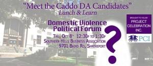 """Meet the Caddo DA Candidates"" Lunch & Learn"